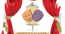 Teatro de máscaras en dibujo