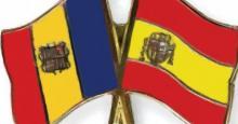 Banderas de Andorra y España