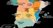 Mapa de las Comunidades Autónomas de España