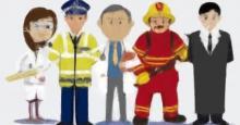 Dibujos de Policias, médicos, bomberos, etc