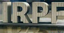 Logo con la palabra IRPF