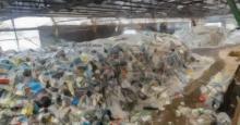 Dibujo del interior de una planta de reciclaje