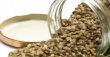 Tarrón de Vidrio con semillas de cannabis