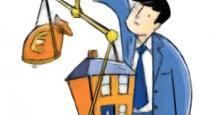 Balanza entre Valor de una casa y bolsa de dinero
