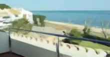 Vistas desde un balcón en Sant Pol de mar