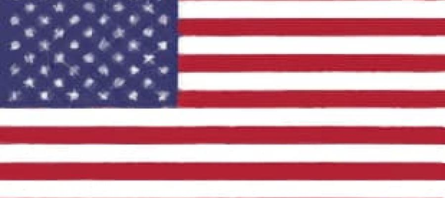 bandera Estados Unidos de América actual