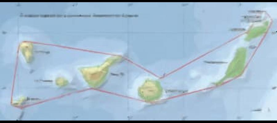 Mapa de las Islas canarias