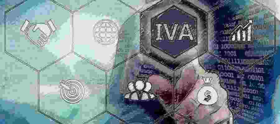 Exágono con la palabra IVA