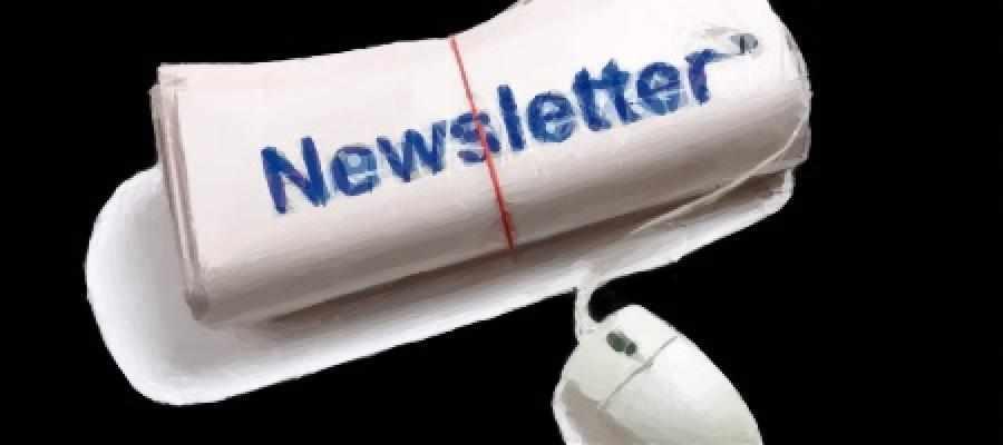 Dibujo de un periódico con el título Newsletter