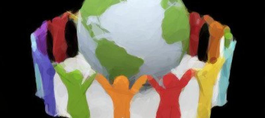 Personas protegiendo el mundo