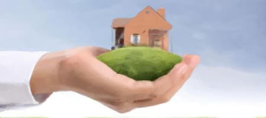 Una casa en la palma de la mano