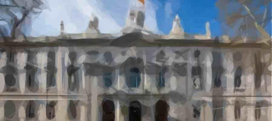 Imagen de la Fachada del Tribunal Supremo Español en Madrid