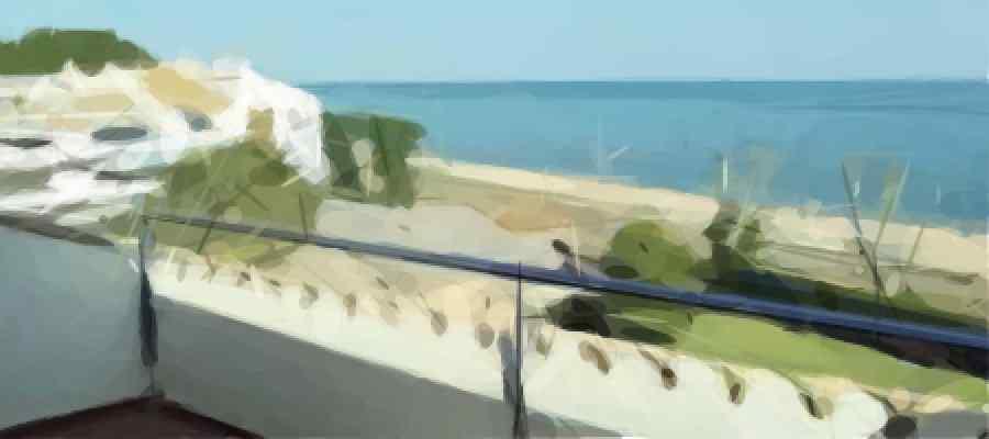 Vistas desde una terraza en Sant Pol de mar